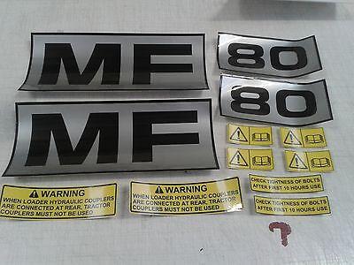 Massey ferguson 80 loader stickers decals