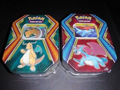 Dollar General Pokemon Tins. Lot Of 2 : Salamence, Dragonite. FACTORY SEALED