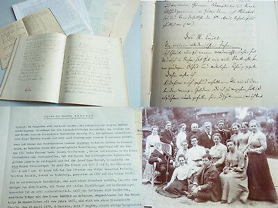 Konvolut Fam. BARTELS: Autobiographie 1762 (7jähriger Krieg), Chronik, Foto...