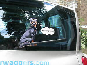 ROTTWEILER-LOVER-DOG-CAR-STICKER-NOVELTY-GIFT-COLLECTABLE-WITH-WIPER-WAGGY-TAIL