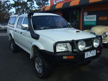 2006 Mitsubishi Triton Ute Diesel 4x4 manual 4 Door ute & ute canopy fibreglass in Victoria | Gumtree Australia Free Local ...