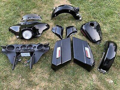 2008 Harley Street Glide FLH TIN SET Batwing Fenders Gauges Bags Gas Tank
