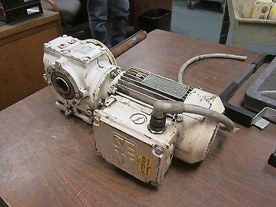 Sew-eurodrive Ac Motor Gear Dft80n4-ks 1hp 1700rpm 230yy460y 3.71.85a Used