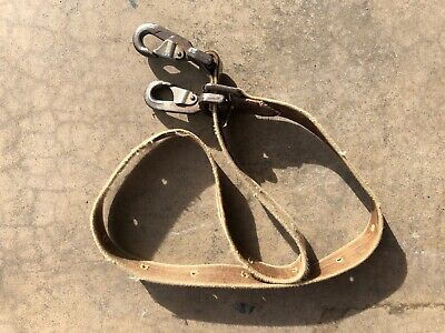 Buckingham 3842 1-34 X 5 Lineman Positioning Pole Climbing Strap Lanyard