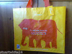 SAINSBURYS RELIABAG ELEPHANT REUSABLE LARGE SHOPPING BAG - BNWT (NEW)