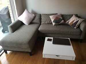 Grey sofa L shape Sans Souci Rockdale Area Preview