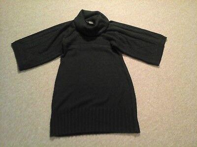 Maggy London,black 3/4 sleeve cowl neck sweater dress,womens M