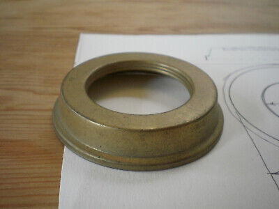 ANTIQUES BRASS 1 1/2in THREAD COLLAR RING FOR OIL LAMP FONT
