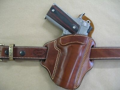 Azula Leather OWB Two Slot Pancake Belt Holster CCW For.. Choose Color & Gun