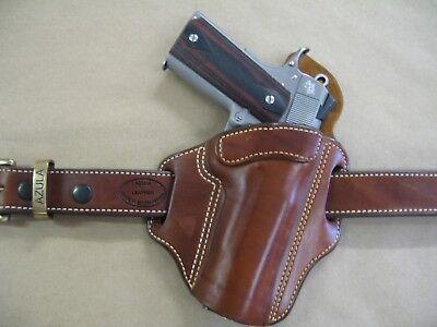 Azula Leather OWB 2 Slot Pancake Belt Holster CCW For   Choose Color & Gun  - 1