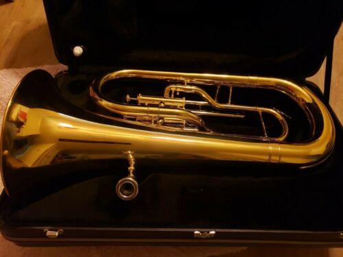 Jupiter 468L 3-Valve Euphonium Tuba Musical Instrument & Hard Case