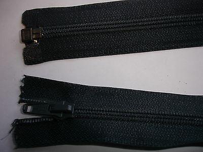 RV 299 Reißverschluß opti dunkelgrau 60cm, teilbar 1 Stück