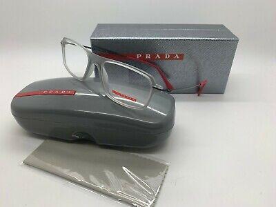 Prada Sport CLEAR GRAY Eyeglasses OPS 03FV TIL101 53mm Italy Fashion Demo (Italia Eyeglasses)