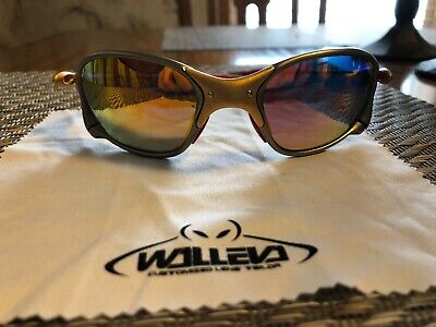 Oakley X Metal XX SUNGLASSES 24K FRAME With Walleva Polarized Red Iridium lens.