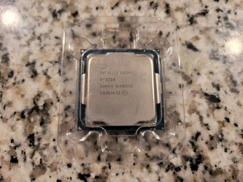 Intel Xeon E-2224 3.40 GHZ Processor