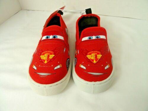 Disney PIixar Cars Lightning McQueen Slip On Canvas Shoe Size 9 Boys