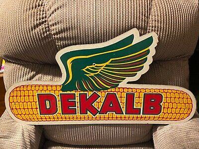 """Vintage 1950's Dekalb Seed Corn Farm Flying Ear 32"""" Sign Arlie Pearce"""