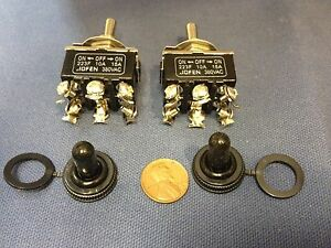 waterproof toggle switch 2 pieces black waterproof boot cap dpdt momentary toggle switch 2x on off on