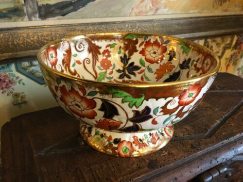 English Amherst Lusterware Ironstone Pottery Bowl Multicolored C1890 Stunning