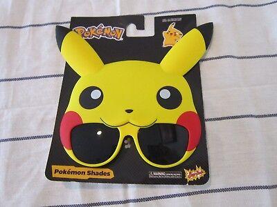 Pokemon Sunglasses Pikachu Shades Sun-Stache New One Size Fits Most (One Sun Sunglasses)