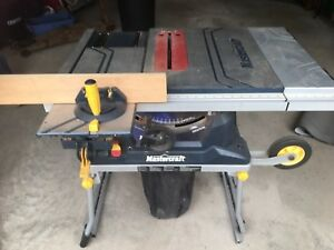 Table saw mastercraft