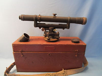 Vtg Keuffel Esser Surveying Scope 90672 Survey Telescope Level W Box 1945