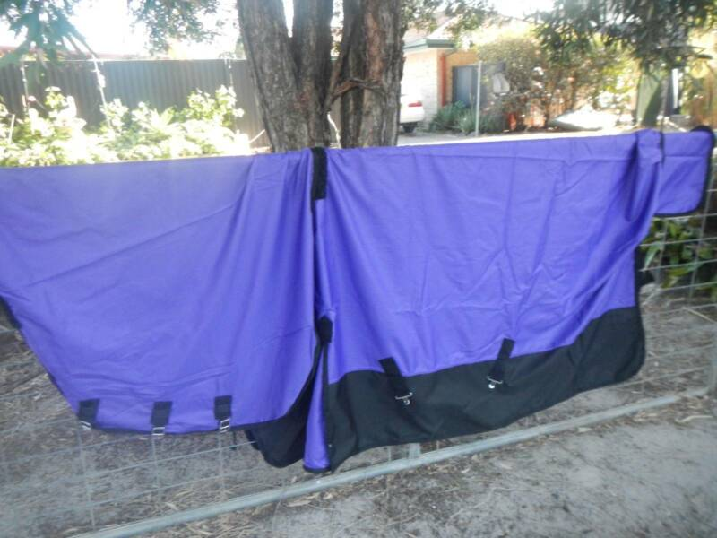 purple no fill satin lined quality horse rug