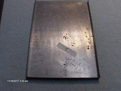 Vintage Steel Letterpress Galley Tray 13 X 10