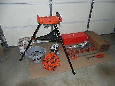 Ridgid 700 - T2 Power Threader 115v12r Set 12 - 2 Rigid 141 Head Oiler