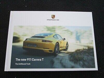 2018 2019 Porsche 911 Carrera T Brochure 991 T Coupe Hardcover US Sales Catalog