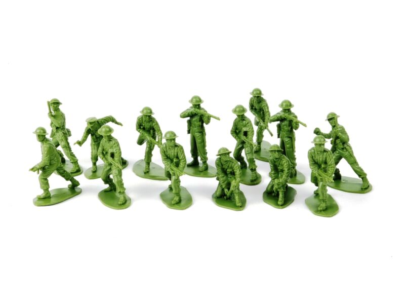 World War I United States Infantry 54mm Plastic Green Toy Soldiers And Figures