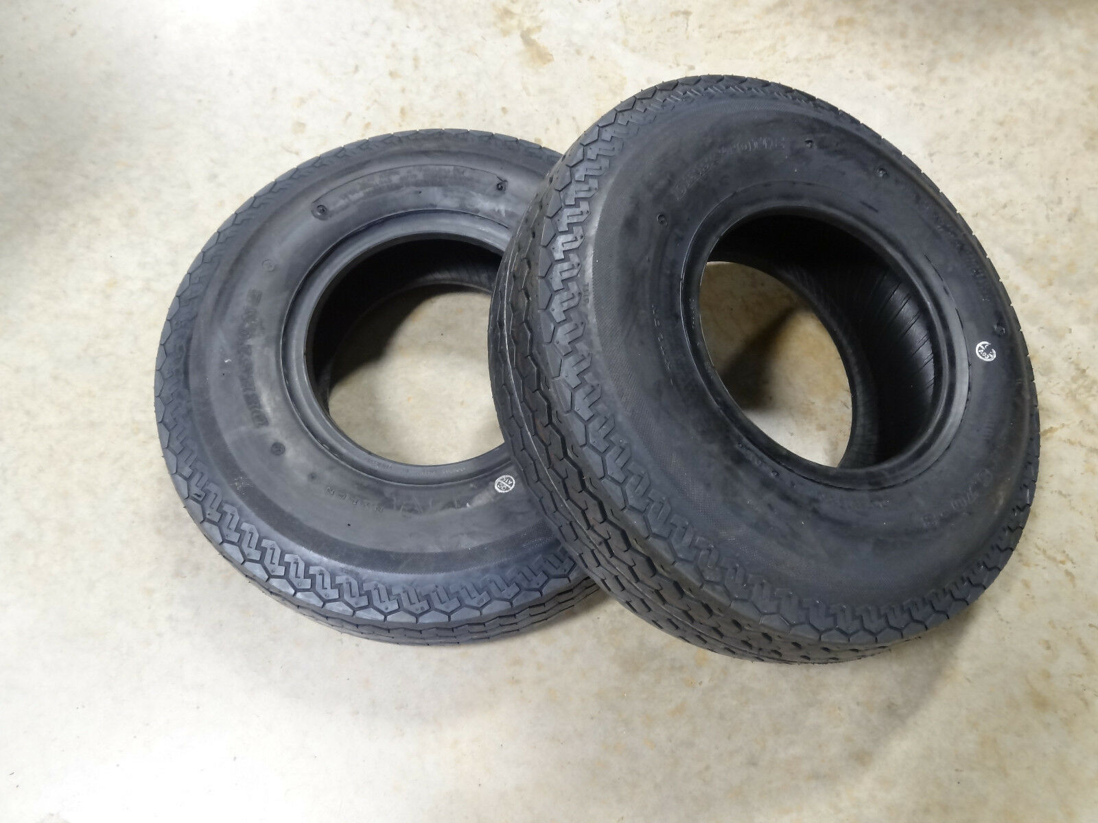 TWO New 5.70-8 Deestone D901 Highway Use Trailer Tires 8 ply Load Range D