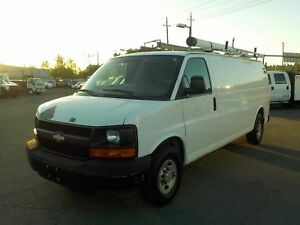 2007 Chevrolet Express G3500 Extended Cargo Van with Rear Shelvi