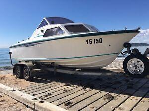 MUSTANG 17' & 130hp Yamaha Outboard