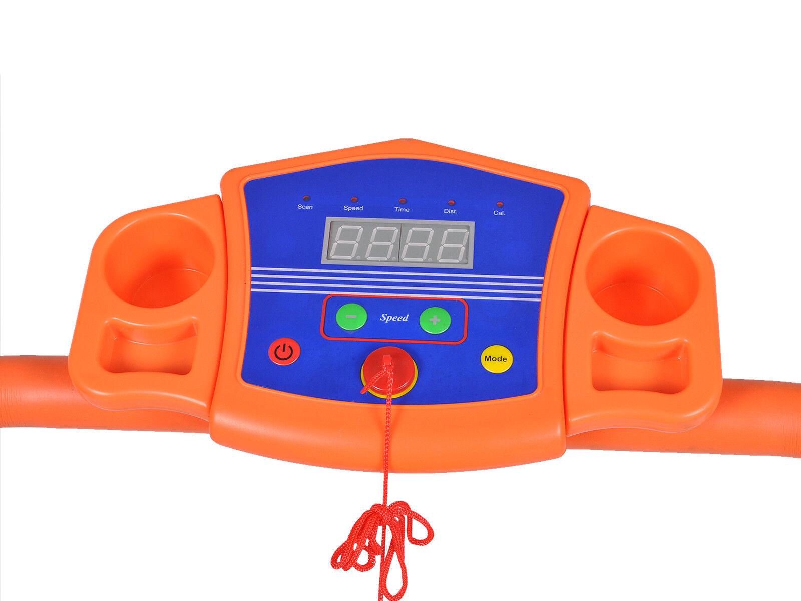 1100w folding electric treadmill portable motorized running fitness machine bk