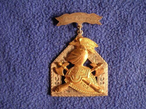Vintage Knights Of Pythias Jewel FCB Fraternal Alex F Simpson Lodge 87 Sterling