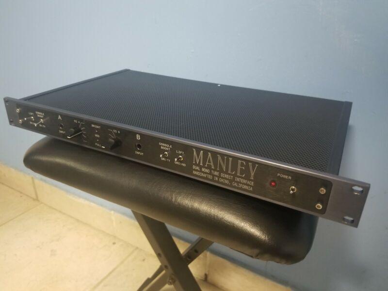 Manley Labs Dual Mono Tube Microphone DI Direct Box Mic Interface
