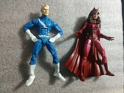 "Hasbro Marvel Legends Scarlet Witch & Custom Quicksilver - X-Men 6"" Loose Rare"