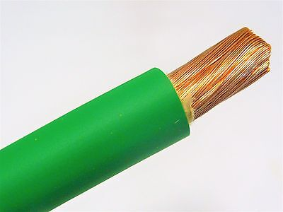 20 Welding Battery Cable Green 600v Usa Epdm Jacket Heavy Duty Copper 100 Ft
