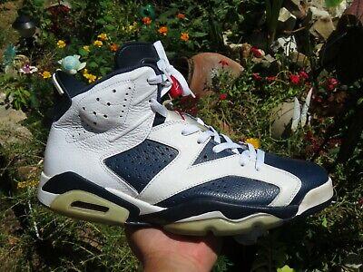 Air Jordan Retro 6 VI Olympic Size 12 Men Pre Owned Rare 384664-130 Read