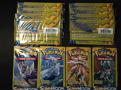12 X Pokemon Sun   Moon Dollar Tree 3 Card Booster Packs   Factory Sealed