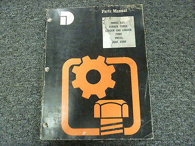 Dresser Model 555 Rubber Tired Loader Logger Parts Catalog Manual Book