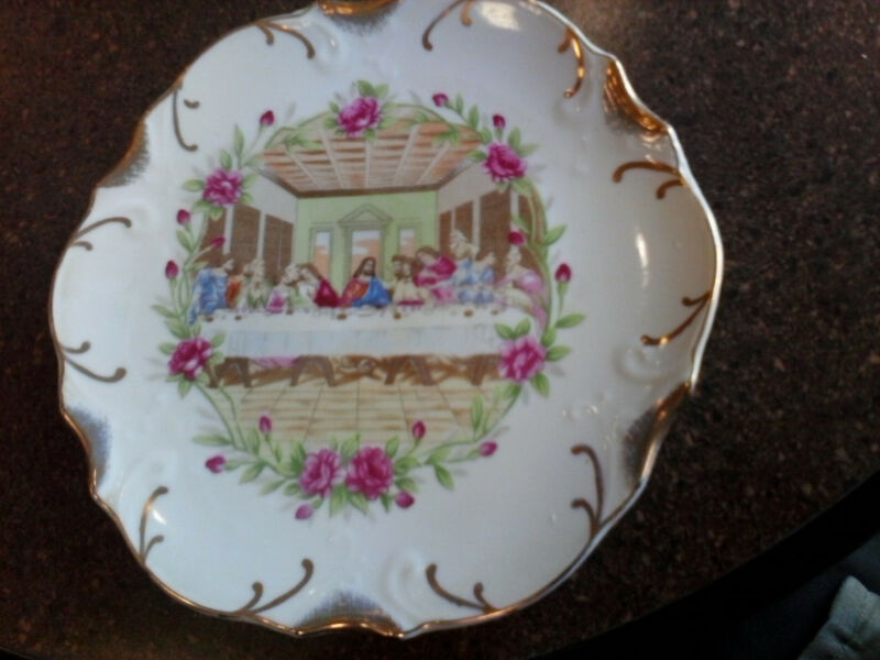 Vintage Beautiful Collector Plate The Last Supper christian jesus catholic bible