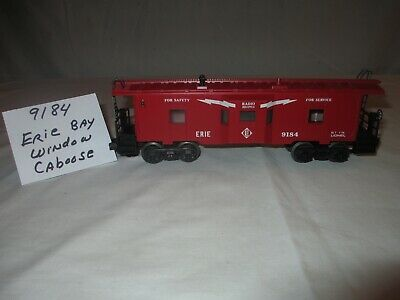 Lionel Erie Bay Window Caboose #6-9184, 1976 Red, O Gauge 3 Rail Track, Used, used for sale  Berkeley Heights
