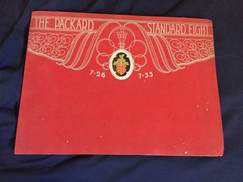 1930 Packard 7-26 7-33 Eight Large Prestige Portfolio Catalog Brochure Prospekt