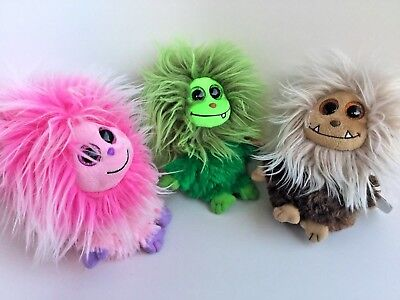 Lot Of 3 Ty Frizzy - Scoops, Zinger, Kink