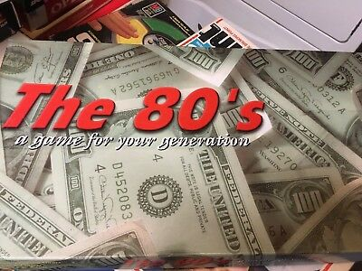 Monopoly themed The 80's real estate board game for your generation 1980's