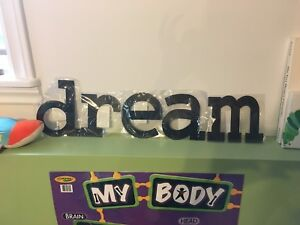 DREAM tin letters