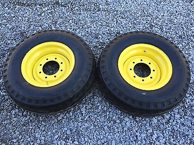 2 New 11l-16 Backhoe Tireswheelsrims For Case 580 2wd - F3 12 Ply Rating