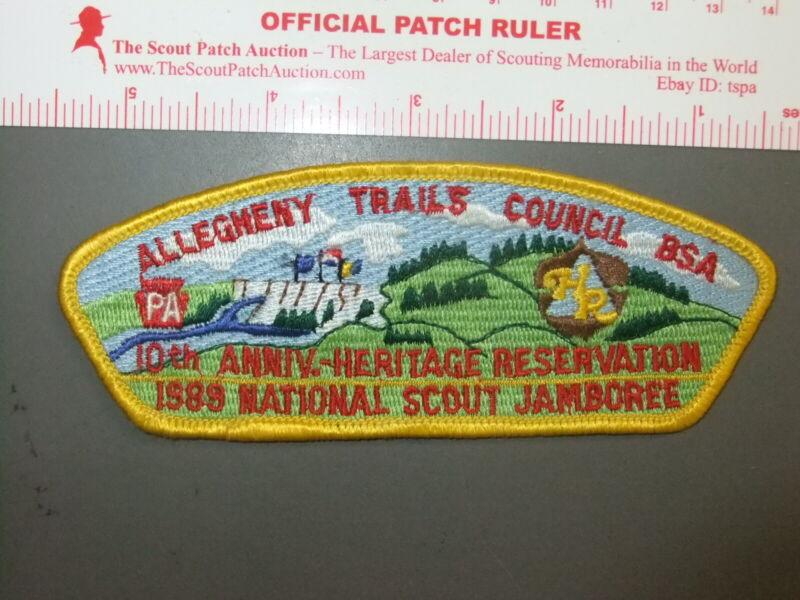 Boy Scout Allegheny Trails 1989 JSP PA YEL 5695CC